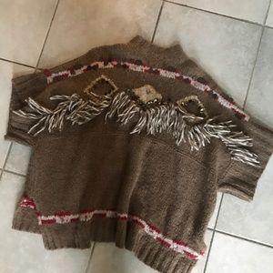Free people poncho sweater xs/s